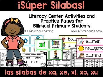 Spanish Phonics Practice for xa, xe, xi, xo, xu - Sílabas