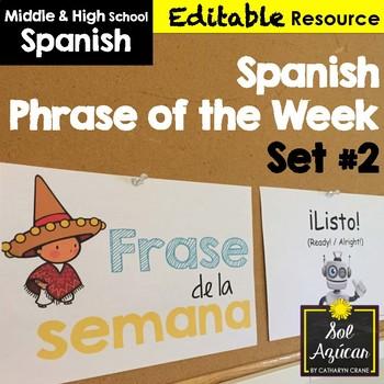 Spanish Phrase of the Week Posters - Frase de la Semana - Set # 2