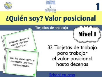 Spanish Place Value Task Cards to Tens | Tarjetas de traba