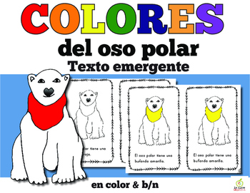 Spanish Emergent Reader: Polar Bear Color Words