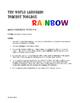 Spanish Possessive Adjective Rainbow Reading