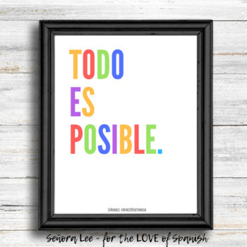 Spanish Poster - Todo Es Posible