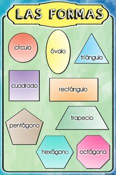 Spanish Poster of Basic Shapes