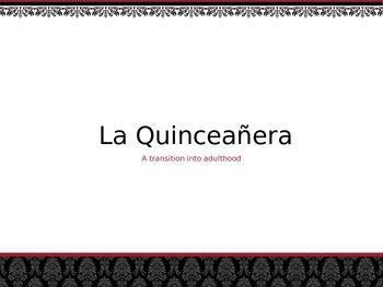 Spanish - Powerpoint - Quinceanera