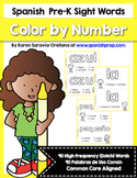 Spanish Sight Words Color By Number (Pre-Primer)