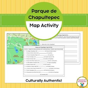 Spanish Vocabulary: Prepositional Phrase Map Activity