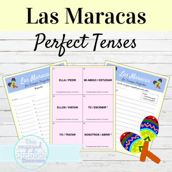 Spanish Present + Past Perfect Maracas Game: Preterito Per