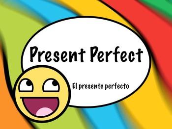 Spanish Present Perfect Grammar Tense Keynote Slideshow Pr