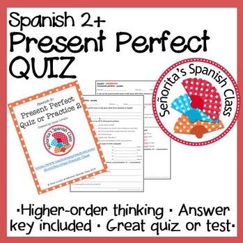 Spanish - Present Perfect Quiz or Practice 2