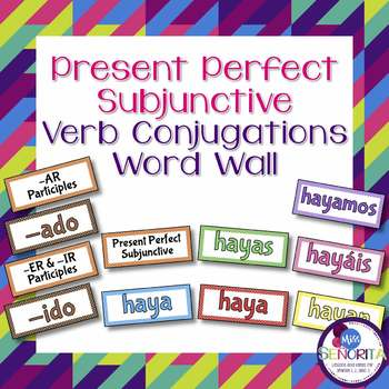 Spanish Present Perfect Subjunctive Verb Conjugations Bull