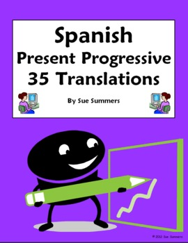 Spanish Present Progressive 35 Spanish to English Translat