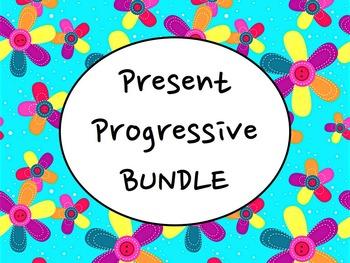 Spanish Present Progressive BUNDLE- PowerPoint, Worksheets