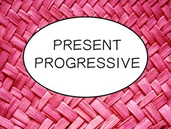 Spanish Present Progressive Tense PowerPoint Slideshow Pre