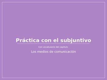 Spanish Present Subjunctive PowerPoint Practice Activity
