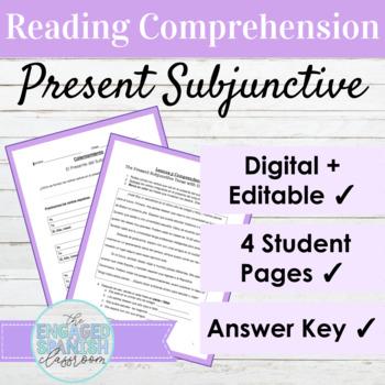 Spanish Present Subjunctive Reading Comprehension : el pre