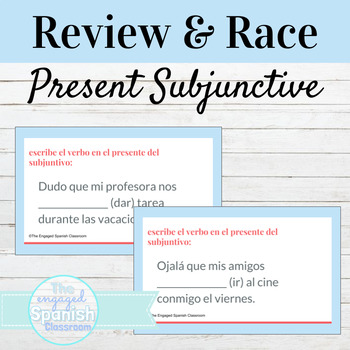 Spanish Present Subjunctive Tense Guided Notes + Word Race