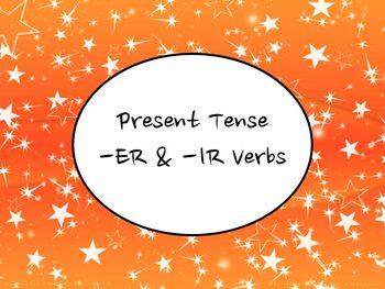 Spanish Present Tense Regular -ER & -IR Verbs Keynote Slid