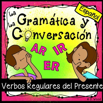 Spanish Present Tense Verbs Worksheets and Conv.