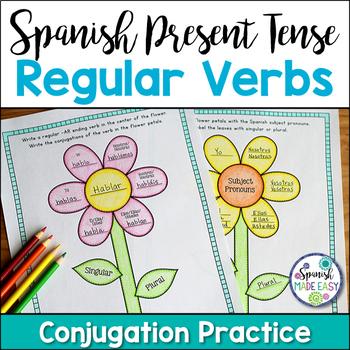 Spanish Present Tense Regular Verbs Activities and Posters