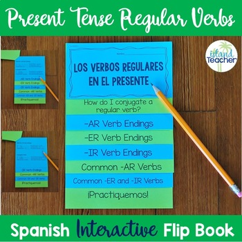 Spanish Present Tense Regular Verbs Interactive Flip Book