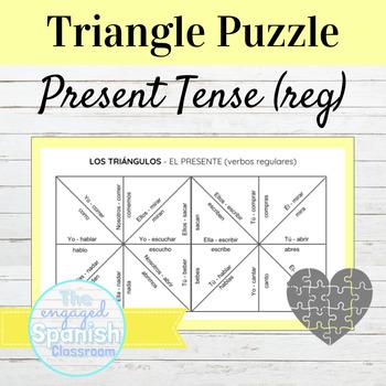 Spanish Present Tense (el presente) Conjugation Puzzle: Re