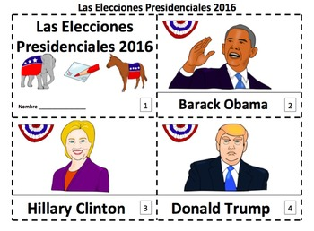 Spanish U.S. Presidential Election 2 Emergent Reader Bookl