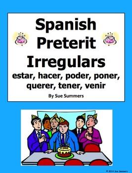 Spanish Preterit Irregulars with Adverbs of Time 20 Senten
