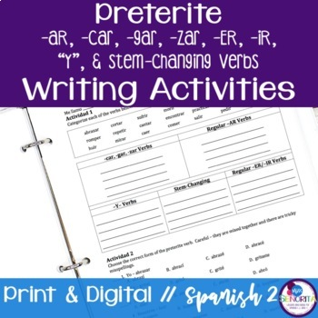 Spanish Preterite -AR, -ER, -IR, Y, and Stem-Changing Verb