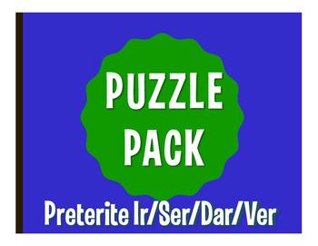 Spanish Preterite Ir Ser Dar Ver Puzzle Pack