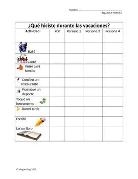 Spanish Preterite Pair Speaking Survey