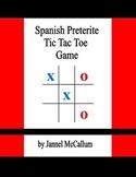 Spanish Preterite Tic Tac Toe Game