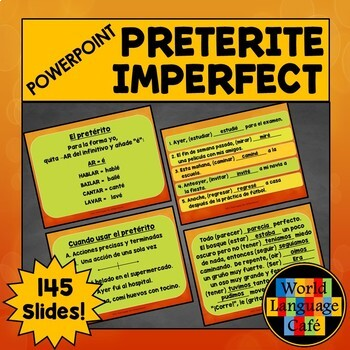 Preterite vs. Imperfect PowerPoint, Formation, Usage, Acti