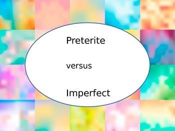 Spanish Preterite vs. Imperfect Tenses (comparison) PowerP