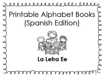 Spanish Printable Letter book (La letra Ee)