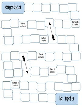 Spanish Printable blank Board Game