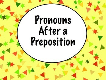 Spanish Pronouns After Prepositions Keynote Slideshow Pres