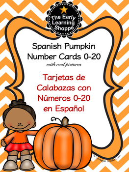 Spanish Pumpkin Number Cards 0-20