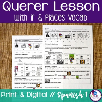 Spanish Querer with Ir and Places Lesson