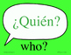 Spanish Question Word signs word wall - Great for Comprehe