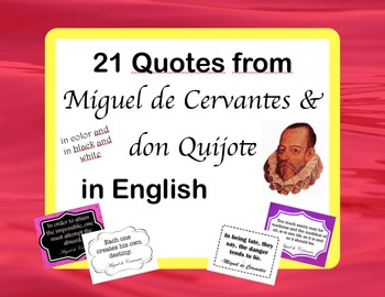Spanish Quotes: 21 Posters of don Quijote & Cervantes Quot