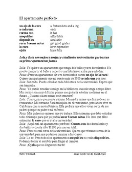 Subjunctive Spanish Reading ~ Apartment Hunt ~ Lectura en