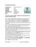 Subjunctive Spanish Reading ~ Apartment Hunt ~ Lectura en