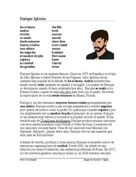Enrique Iglesias Biography ~ Lectura de la vida de Enrique