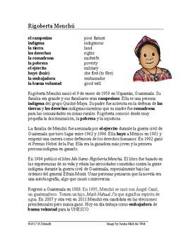 Rigoberta Menchú Biografía ~ Rigoberta Menchu Biography (G