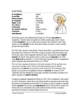 Eva Peron Biography ~ Biografía de Eva Perón