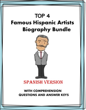 Artistas Latinos Lecturas ~ Latin Artists Spanish Reading