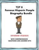 Spanish Biography Bundle ~ Biografías de Evita, Castro, Ri