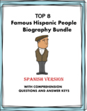 Spanish Biography Reading Bundle ~ Biografías  (Evita, Cas