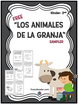 Farm Animals in Spanish Vocabulary Writing Booklet Pre-K-2