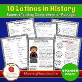 Spanish Reading Comprehension Passages: 10 Latinas in Hist